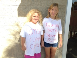 Children against standardized testing.