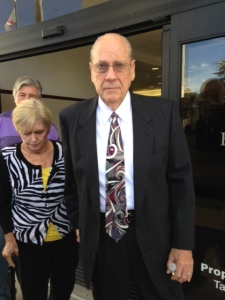 Curtis Reeves leaves the Pasco County Courthouse on Wednesday, Sept. 10, 2014.